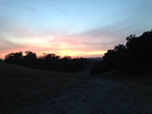 Sunset 10 miles