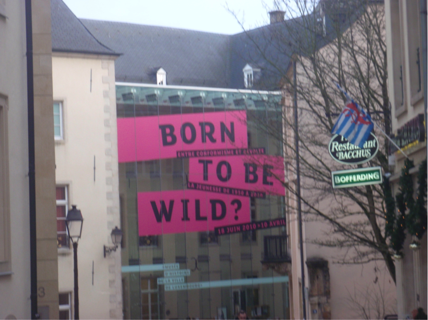 An ironic sign in an art gallery we saw whilst in Luxembourg City.