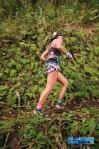 Candice running the H.U.R.T. 100 in 2015.
