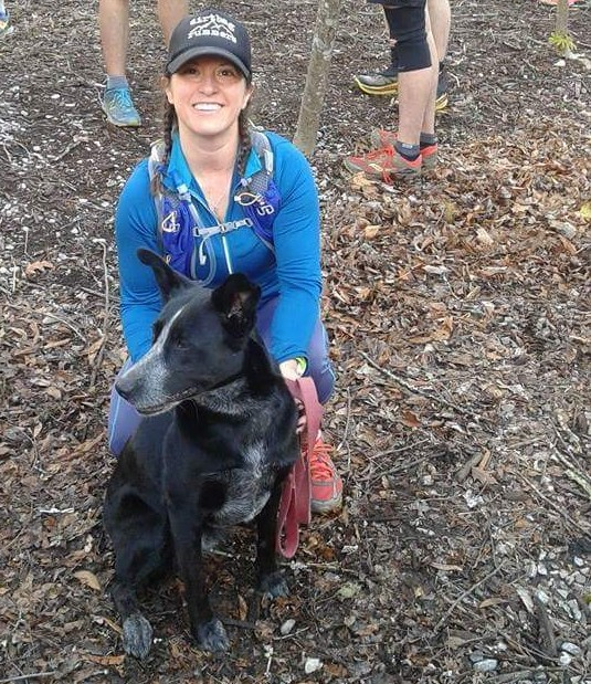 Isis and I at the start of the Nantahala Hilly Half