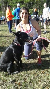 Me and Isis at the start of Dupont 12K